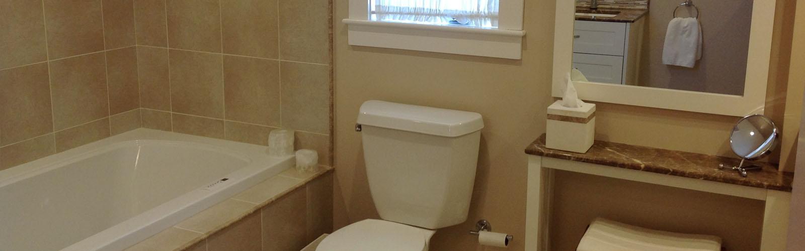 Pease bathtub and vanity